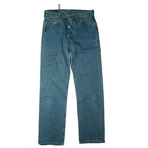 Levis-Levi-s-501-Herren-Jeans-Hose-30-30-W30-L30-blau-stonewash-USA-used-TOP-C36