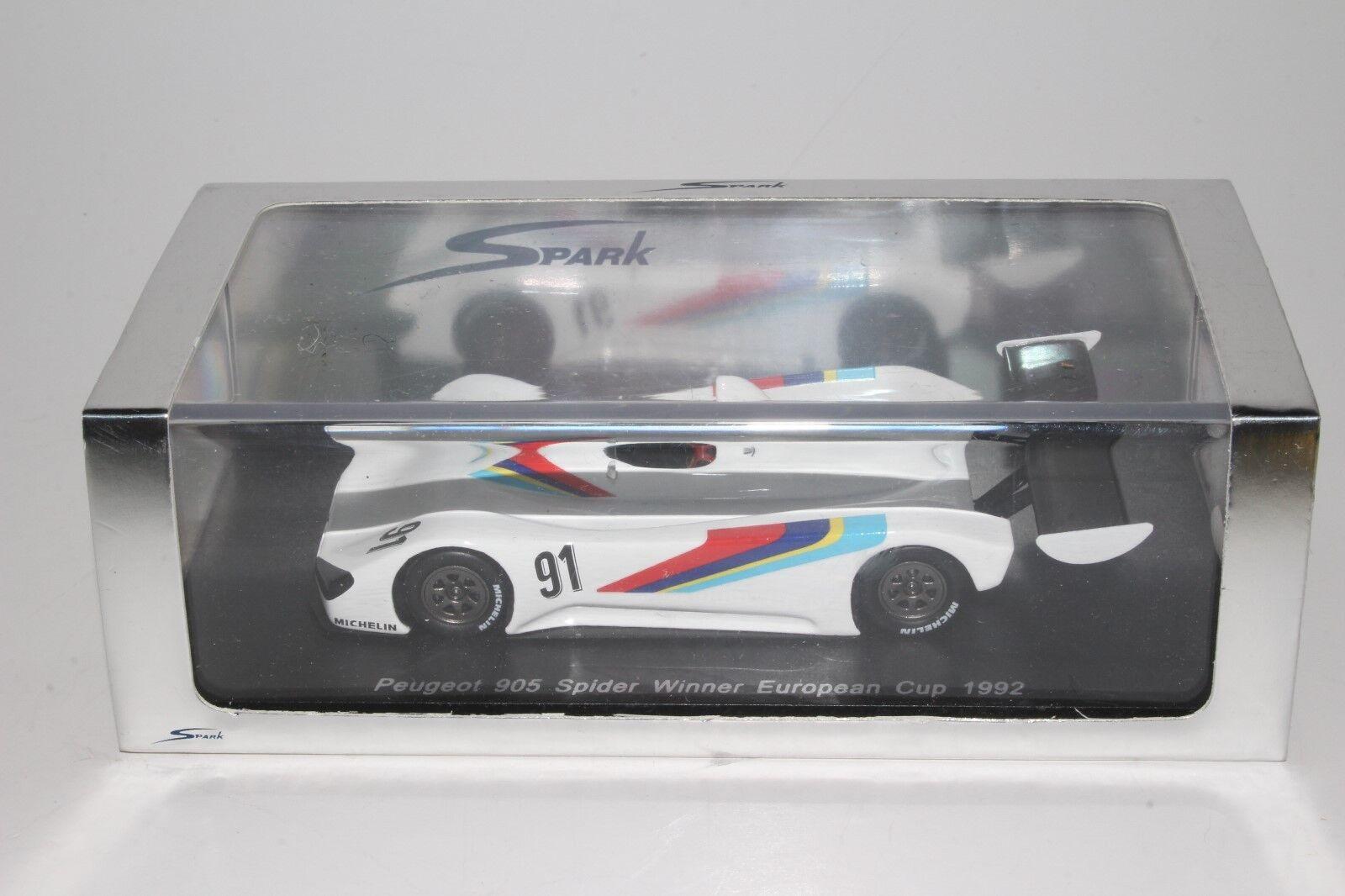 Peugeot 905 spider cup presentation voiture race 1991 ignition  model  1275  le style classique