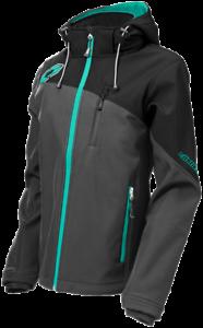 Castle X Womens Barrier G2 Gray//Mint Tri-Lam Soft Shell Jacket size Medium