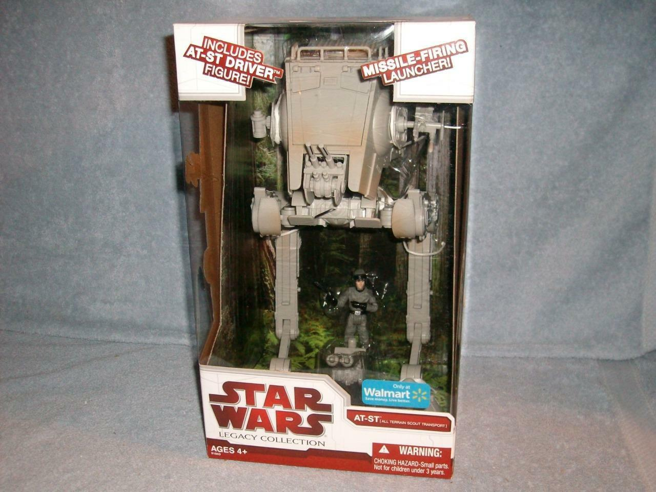 AT-ST & Driver Star Wars Legacy Collection Walmart Exclusive Hasbro 2009 Opened
