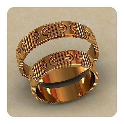 5 Pcs Wedding Band Ring Wax Patterns For Lost Wax Casting