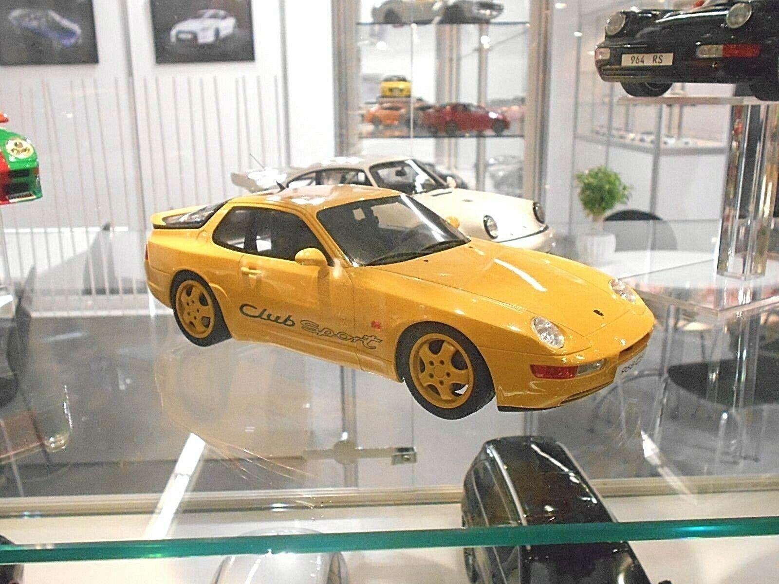 Porsche 968 Coupe Club Sport CS Yellow Yellow 1993 Resin GT Spirit RAR 1 18