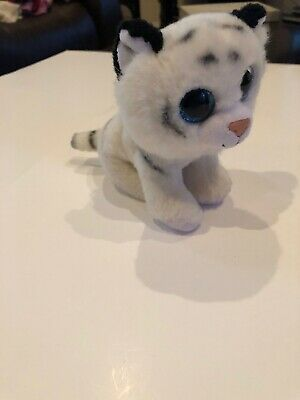 "Ty Beanie Baby 6/"" Tundra White Tiger Stuffed Animal Plush w// Heart Tags"