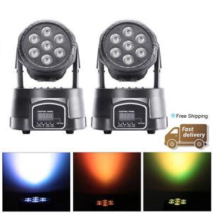 2PCS 7 LED 105W Moving Head Stage Light RGBW Mixing Color DMX DJ Party Disco KTV