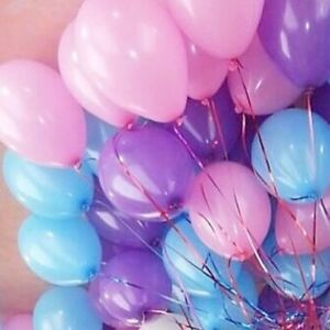 Image Is Loading Pastel Blush Pink Balloons Purple Blue Wedding Bride