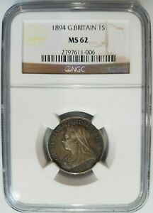 1894-Great-Britain-Silver-Shilling-NGC-MS-62-Toned-Toning-1s-Queen-Victoria
