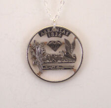 Arkansas - Cut-Out Coin Jewelry, Necklace/Pendant