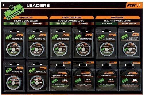 Camo Leadcore Submerge Fox Edges Leaders Armadillo