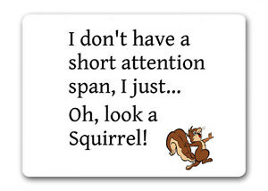 I Don T Have A Short Attention Span Squirrel Mouse Mat