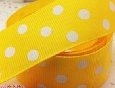 3 METRES YELLOW IN THE NIGHT GARDEN RIBBON 25MM 1/""