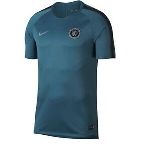 Nike-Hommes-Maillot-2018-2019-FC-Chelsea-Training-T-shirt-919957-468-neuf-taille-M