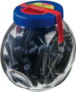 Herlitz-Tintenpatronen-blau-im-Glas-mit-Schraubverschluss-100-Patronen