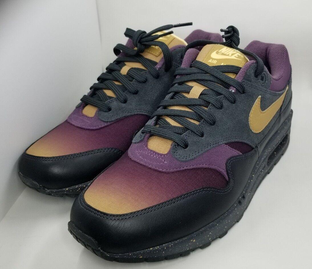 Nike Air Max 1 Premium Fade Pack Anthracite Pro Purple Sz 9.5 875844-002