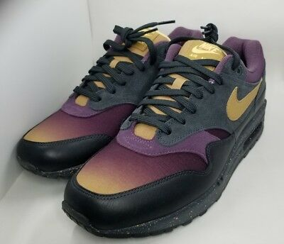 Nike Air Max 1 Premium Fade Pack Anthracite Pro Purple Sz 10 875844 002 885177977399   eBay