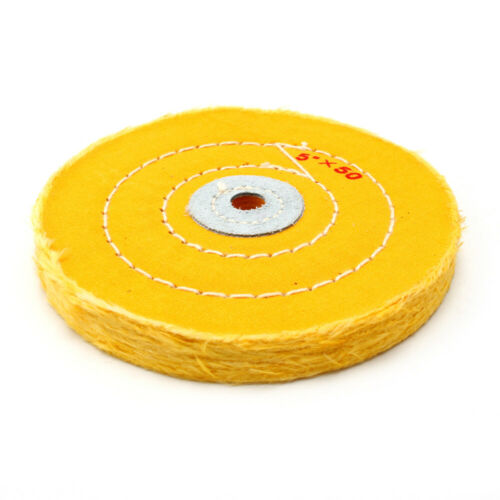 2Pcs 5 Inch Cotton Cloth Buffing Wheels Abrasive Pad For Wood Metal Polishing