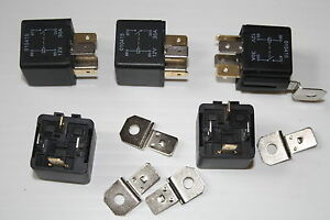 4 PIN 12V 30 A RELAY 30 AMP CHANGEOVER RELAY AUX LIGHT HORN CAR RALLY MOTORSPORT