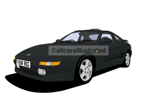 TOYOTA MR2 CAR ART PRINT PICTURE PERSONALISE IT! SIZE A4