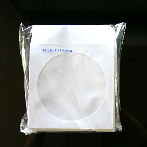 100 paper sleeve envelope with clear window flap for cd for 100 paper cd sleeves with window flap