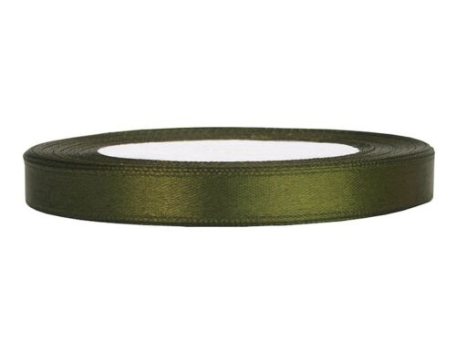 Satinband olivgrün 6 mm 25 m Schleifenband Geschenkband Dekoband schmal