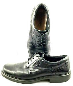 Ecco Helsinki Oxford Men EUR Sz 41 US 7-7.5 Black Leather Lace Up Plain Toe Shoe