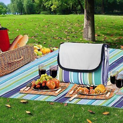 Fleece Picknickdecke 100x130cm klappbare Rasendecke Stranddecke Wasserdicht