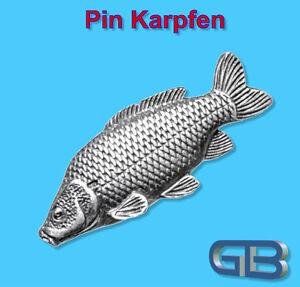 ANSTECKNADEL-PIN-Fisch-Karpfen-aus-Zinn-farbe-Gold-Silber-Bronze