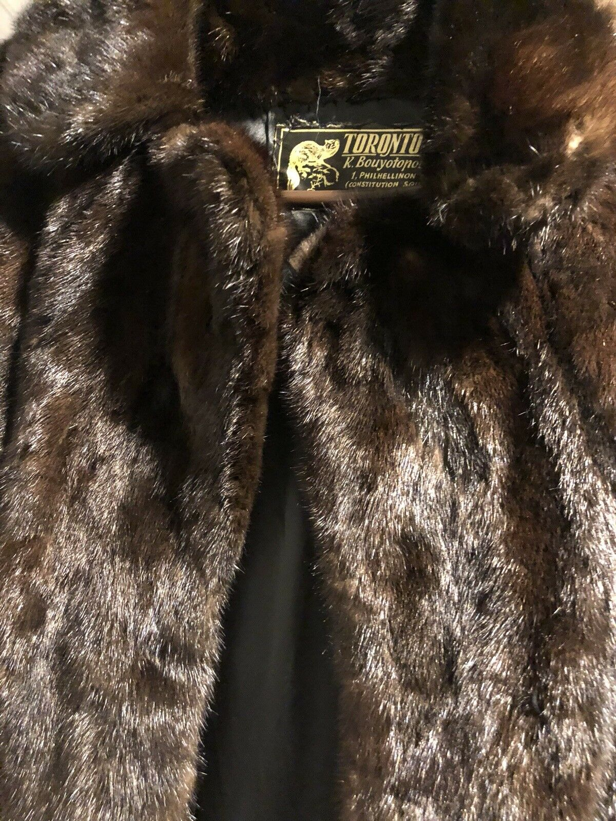Tgoldnto Furs Brown Mink Fur Coat Size Small- Excellent Condition -  700