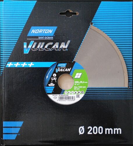 Diamantscheibe NORTON VULCAN Ø200x1,7x25,4mm CERAM Trennscheibe SAINT-GOBAIN