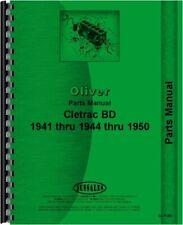 Oliver Bd Cletrac Crawler Parts Manual Catalog 1941 44 Amp 1950