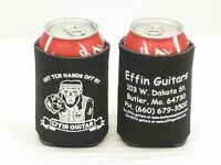 Lot Of 6 Effin Guitars Can Koozies Six Collapsible Drink Cover Coozies With Logo