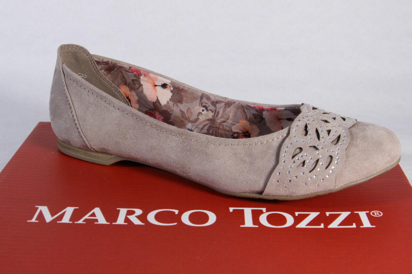 Marco Tozzi Ballerine Mocassins Chaussures Basses Femme Escarpins Beige 42405