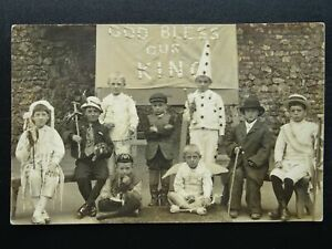 Somerset-GOD-BLESS-OUR-KING-Royal-Celebration-Childrens-Play-Old-RP-Postcard
