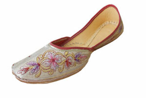 Women-Shoes-Indian-Designer-Traditional-Leather-Mojari-Ballet-Flats-UK-5-EU-38