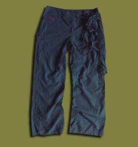 ADIDAS-UK-14-WOMEN-039-S-GREY-BLUE-LOOSE-CARGO-TRACKSUIT-WIDE-LEG-TIE-TROUSERS