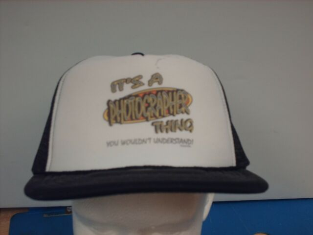 Mesh Foam trucker hat ball cap Black It's Photgrapher Thing Wouldn't Understand