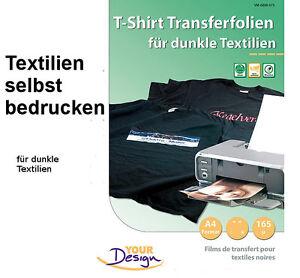 4 x transferfolie b gelfolie t shirt folie dunkle. Black Bedroom Furniture Sets. Home Design Ideas