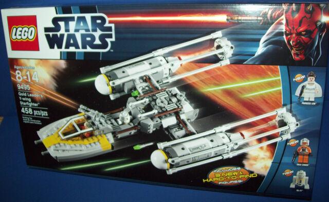 Lego 9495 Star Wars - Oro LEADER'S Y-Wing Starfighter Jubilado Nuevo en Caja
