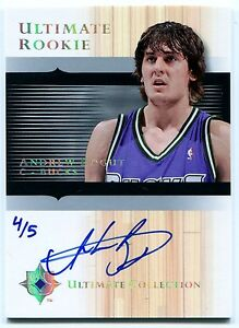 2005-06-Ultimate-ANDREW-BOGUT-Auto-RC-Rare-Redemption-Platinum-Holo-Foil-SP-5