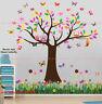 Owl Butterfly Tree Flower Wall Stickers Decal Nursery Kids Decor Mural Art Paper