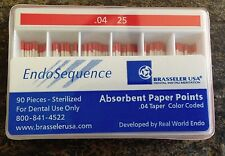 1 Pack Of Brasseler Endosequence Paper Points Size 25 Taper 04