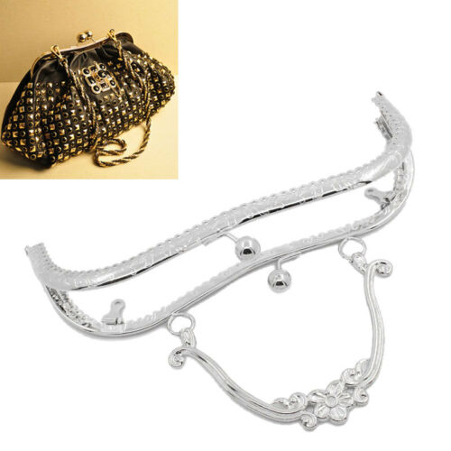 Wholesale Lots Bag Purse Metal Frame Kiss Clasp W//Handle Silver Tone B31703