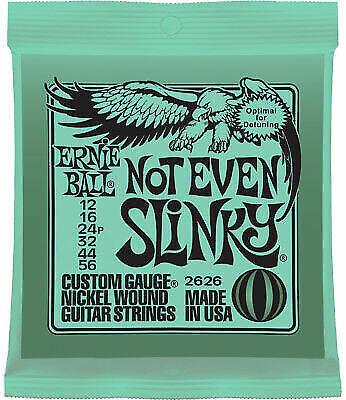 1 set of 2626 ernie ball not even slinky 12 56 gauge electric guitar strings for sale online ebay. Black Bedroom Furniture Sets. Home Design Ideas