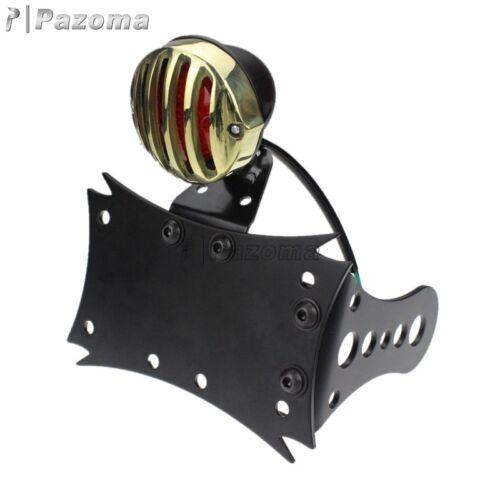 LED Grill Tail Brake Light License Plate Bracket For Harley Sportster Chopper