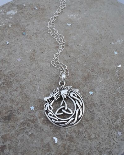 FANTASY DRAGON NECKLACE PENDANT FANCY DRESS OUTFIT ACCESSORY