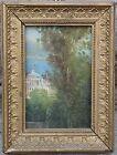 Dipinto olio su cartone - paesaggio - primi '900