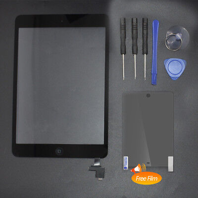 IC+Home Button+Tools For iPad Mini 1 2 Black Touch Screen Panel Glass Digitizer