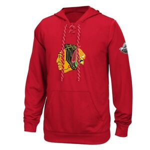 finest selection 7ba9a 32ca4 Details about Chicago Blackhawks Reebok Center Ice TNT Speedwick Red  Pullover Hoodie Men's