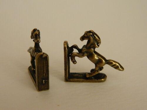Maison de poupées Couleur Bronze Métal Cheval Serre-livres M1.11