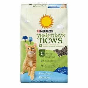 Purina-Yesterday-039-s-News-Non-Clumping-Paper-Cat-Litter-Fresh-Scent-Low-Trackin