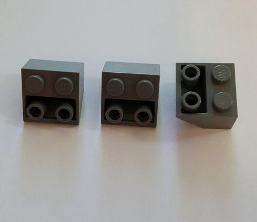 Lego Schrägsteine 3660 Dachsteine 45° invertiert 3 Stück 2x2x1 Neu Dunkelgrau 28